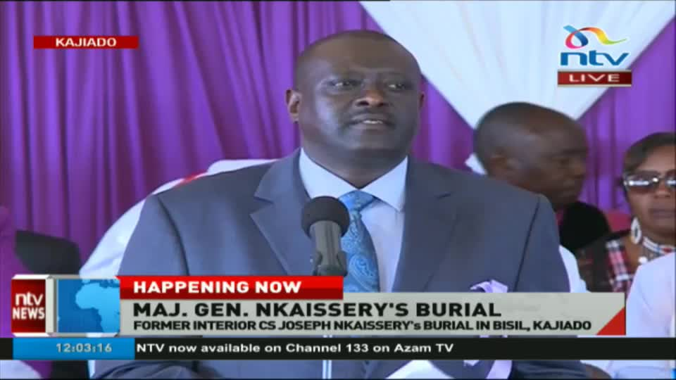 VIDEO: Former Interior CS Joseph Nkaissery's burial in Bisil, Kajiado